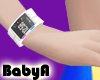 ! BA White Fitness Band