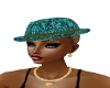 turquoise green hat
