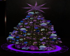 purple teal xmas tree
