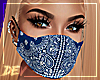 !D Blue Bandana Mask
