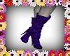 *F* purple boots