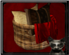|LB|Wicker Pillow Basket