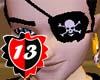 #13 Pirate Eyepatch M