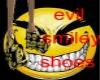 evil smiley shoes
