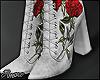$ Velvet Floral Boots