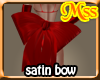 (MSS) RED waist bow