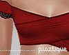 #P- Bardot CropTop Red
