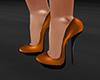 GL-Orange Glitter Heels