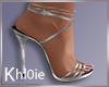 K silver heels