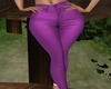 RL PURPLE LEATHER PANTS