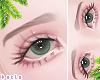 d. eyebrows brown