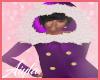 Purple Coat/w fur hoodie