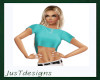 JT Teal Cropped Top