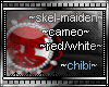 skel-lady cameo red/wht