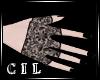 *C* Black Kitten Nails