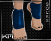 +KM+ Gym Socks Blue2