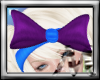 M~ Blue Purple Bow