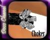Silver Petals Choker