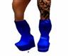 blue knee  high boots