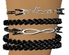 unisex rope love L wrist