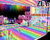 kawaii rainbow room
