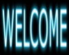 Welcome Sign Teal