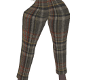PLAID BELT PANTS