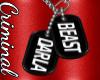 M|  Darla Beast Dogtags