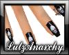 Gothic Skull Fingernails
