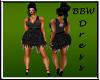 BBW Blk Fringe Dress
