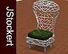 Wicker Throne Chair