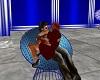 cuddle me chair blue