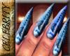 Versace Floral Nails