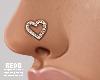 Heart nose stud