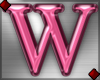 Pink Letter W