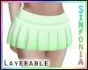 Layer. Green Skirt
