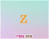 Fo. Z Letter Orange
