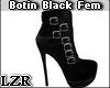 Bota Botin Black Fem