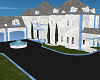 White&Baby Blue Mansion