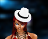 chapeau blanc et noir