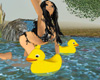 rubber 3D bath ducky