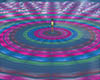 Dj light rainbow floor