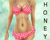 *h* Red Frill Bikini