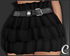 !© Ruffled Skirt Black