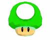 Mario 3D Mushroom Green