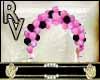 Arco de globos rosas