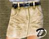 Belted Jean skirt (khk)