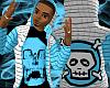 *CA* Blue Skull Hoody