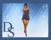 Indigo Party Dress