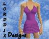 Purple Ruffles Dress